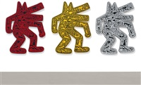 dog [three works] by keith haring